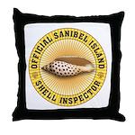 Sanibel Island Shell Inspector Throw Pillow