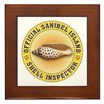 Sanibel Island Shell Inspector Framed Tile