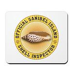 Sanibel Island Shell Inspector Mousepad