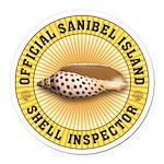Sanibel Island Shell Inspector Round Car Magnet