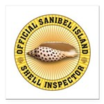 Sanibel Island Shell Ins Square Car Magnet 3