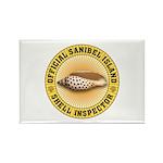 Sanibel Island Shell In Rectangle Magnet (10 pack)