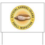 Sanibel Island Shell Inspector Yard Sign