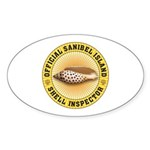 Sanibel Island Shell Inspecto Sticker (Oval 10 pk)