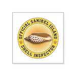 Sanibel Island Shell Inspec Square Sticker 3