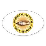 Sanibel Island Shell Inspecto Sticker (Oval 50 pk)