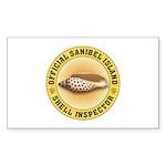Sanibel Island Shell Ins Sticker (Rectangle 10 pk)
