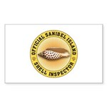 Sanibel Island Shell Ins Sticker (Rectangle 50 pk)