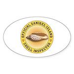 Sanibel Island Shell Inspector Sticker (Oval)