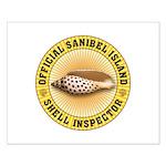 Sanibel Island Shell Inspector Small Poster