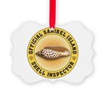 Sanibel Island Shell Inspector Picture Ornament