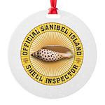 Sanibel Island Shell Inspector Round Ornament
