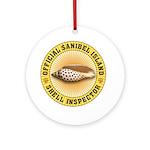 Sanibel Island Shell Inspector Ornament (Round)