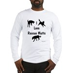 I Love Rescue Mutts Long Sleeve T-Shirt