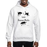 I Love Rescue Mutts Hooded Sweatshirt