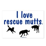 I Love Rescue Mutts Postcards (Package of 8)