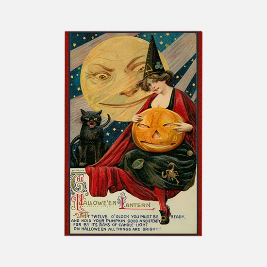 Halloween Lantern Rectangle Magnet