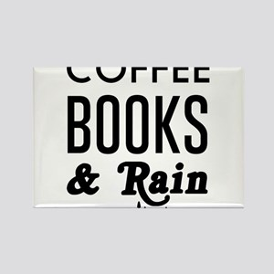 Coffee book and rain Magnets