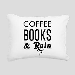 Coffee book and rain Rectangular Canvas Pillow