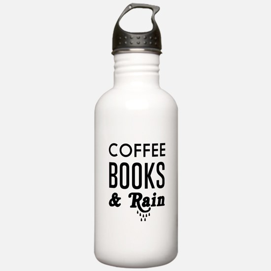 Coffee book and rain Water Bottle