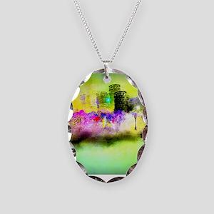 Mardi Gras Necklace Oval Charm