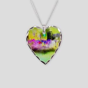 Mardi Gras Necklace Heart Charm