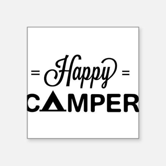 Cute happy camper Sticker