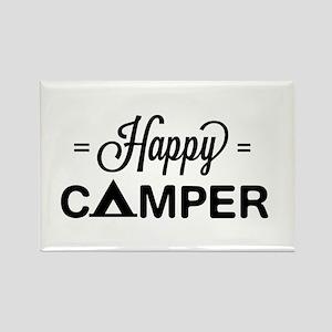 Cute happy camper Magnets