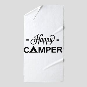 Cute happy camper Beach Towel
