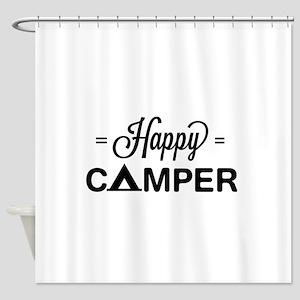 Cute happy camper Shower Curtain