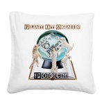 PAWelody Play It Again Square Canvas Pillow