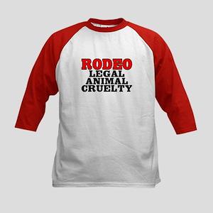 Rodeo Legal animal cruelty - Kids Baseball Jersey