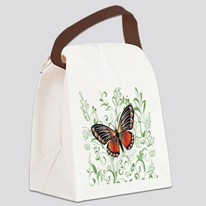 Whimsical Butterfly Canvas Lunch Bag