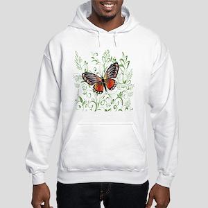 Whimsical Butterfly Hooded Sweatshirt