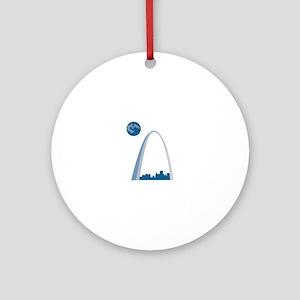 St. Louie Arch Ornament (Round)