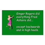 Ginger Rogers Square Sticker