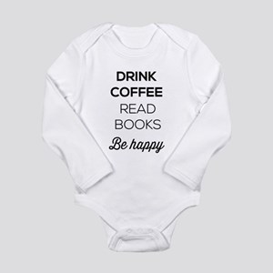 Drink coffee read books be happy Body Suit