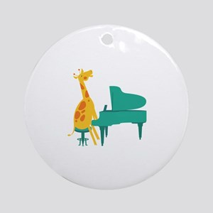 Piano Giraffe Ornament (Round)