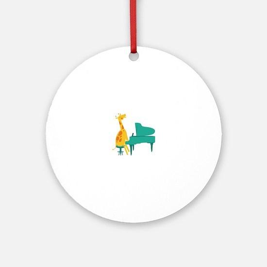Piano Giraffe Ornament (Round)