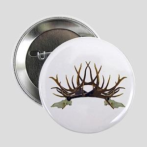 """Monster bull elk European skull side 2.25"""" Button"""