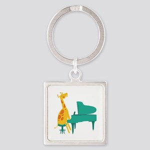 Piano Giraffe Keychains