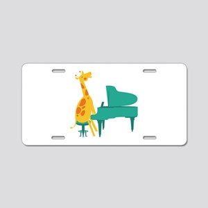 Piano Giraffe Aluminum License Plate