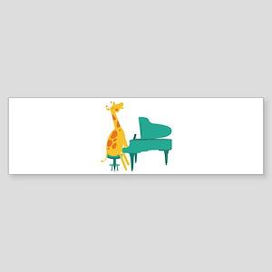 Piano Giraffe Bumper Sticker