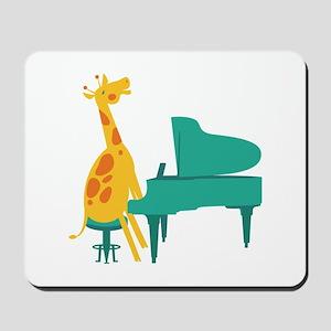 Piano Giraffe Mousepad