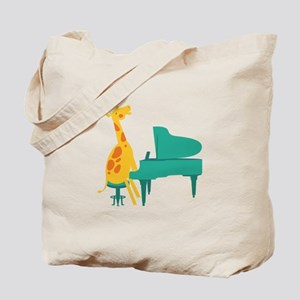 Piano Giraffe Tote Bag