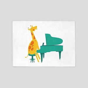 Piano Giraffe 5'x7'Area Rug