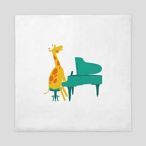 Piano Giraffe Queen Duvet