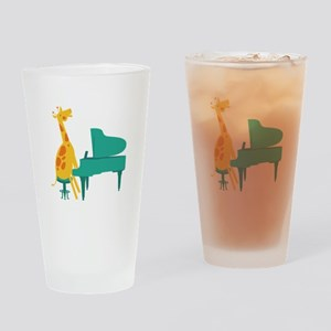 Piano Giraffe Drinking Glass