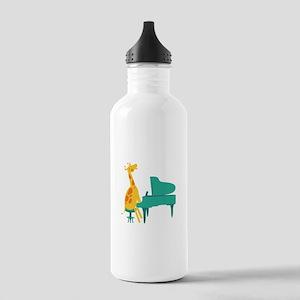 Piano Giraffe Water Bottle