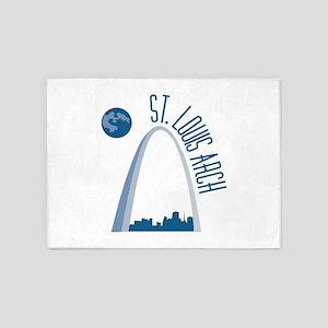 St. Louie Arch 5'x7'Area Rug